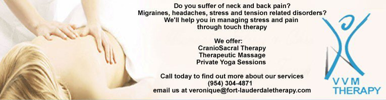 Craniosacral, Massage & Yoga Fort Lauderdale - Broward County - South Florida 33316